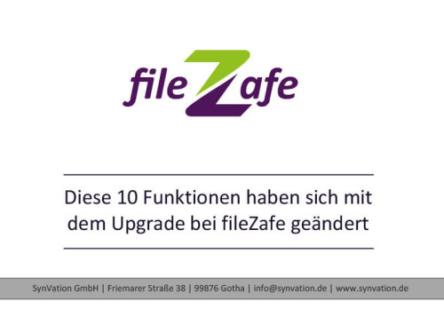 neue Fuktionen in fileZafe